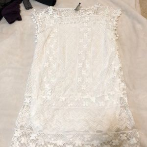 lace shirt/dress or beach cover up